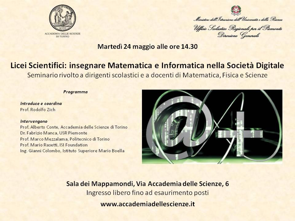 Licei Scientifici: Insegnare matematica e informatica nella società digitale